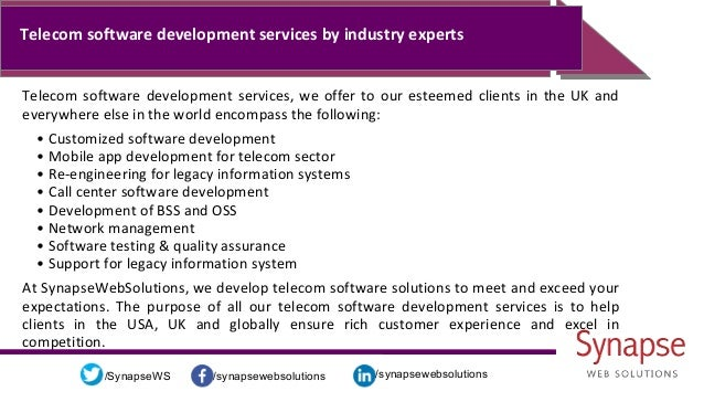 /synapsewebsolutions/synapsewebsolutions/SynapseWS Telecom software development services by industry experts Telecom softw...