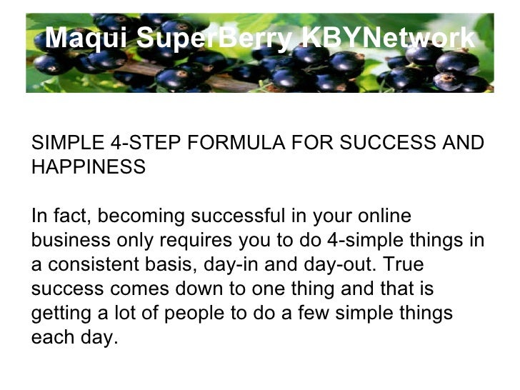Maqui SuperBerry KBYNetwork Khoo Boo Yeang : Founder and CEO Investment Planner and Internet Marketer Investment and Profe...