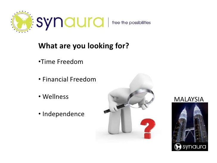 What are you looking for?<br /><ul><li>Time Freedom