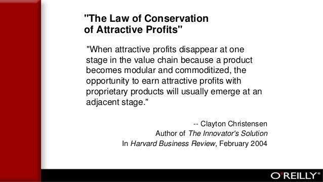 """""""The Law of Conservation of Attractive Profits"""" """"When attractive profits disappear at one stage in the value chain because..."""