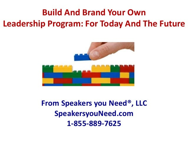Syn build a leadership program objectives and skill sets for Build your own house program