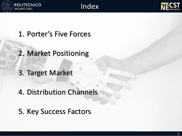 Index 2 1. Porter's Five Forces 2. Market Positioning 3. Target Market 4. Distribution Channels 5. Key Success Factors