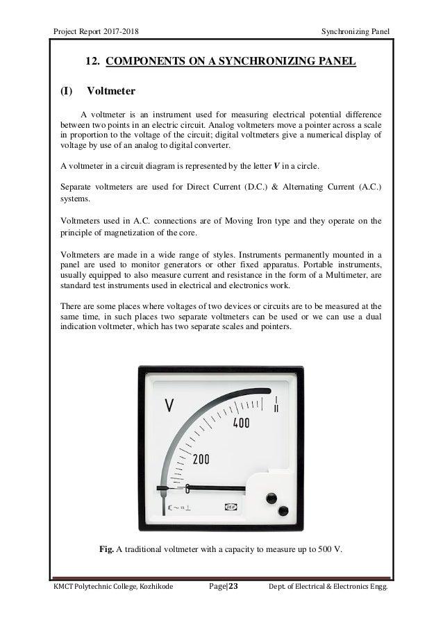 Alternator  Ac Generator  Synchronizing Panel