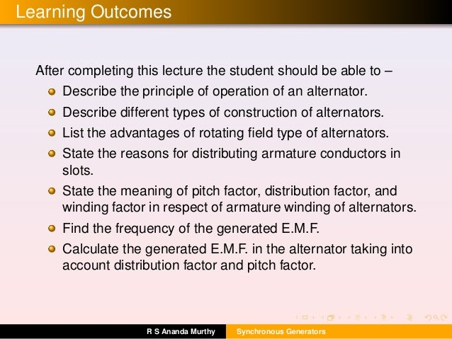 Learning Outcomes After completing this lecture the student should be able to – Describe the principle of operation of an ...