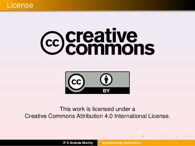 License This work is licensed under a Creative Commons Attribution 4.0 International License. R S Ananda Murthy Synchronou...