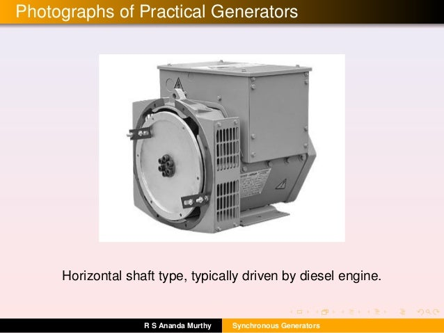 synchronous generators 2 sections 4 and 5 will extend your knowledge of synchronous generators to account for salient pole machines, 20 synchronous generator construction.
