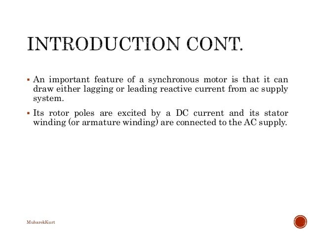 Electrical Power Systems Synchronous Generator Slide 3