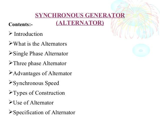 Synchronous generator  by pankaj chaudhary Slide 2