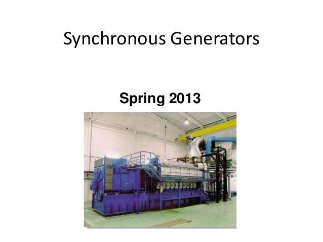 Spring 2013 Synchronous Generators
