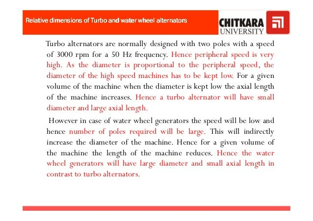 Relative dimensions of Turbo and water wheel alternatorsRelative dimensions of Turbo and water wheel alternatorsRelative d...