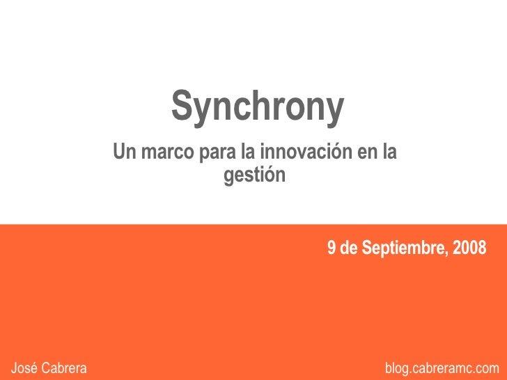 Sincronia - Un marco para la Innovación