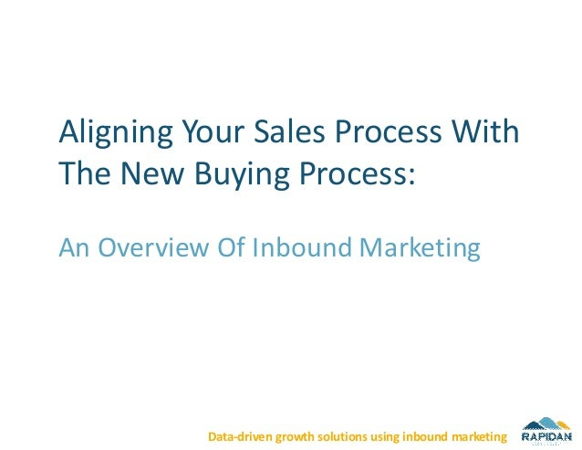 Aligning Your Sales Process WithThe New Buying Process:An Overview Of Inbound Marketing           Data-driven growth solut...