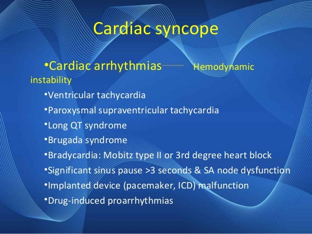 Approach to Syncope