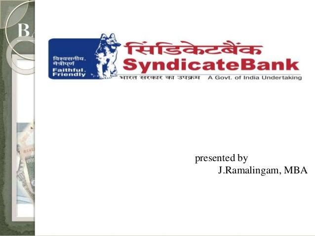 presented by  J.Ramalingam, MBA