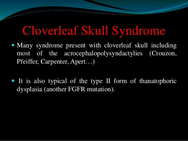 classification of craniofacial  synostosis   Tessier's classification Levels of malformation   Class 1: isolated cranial...