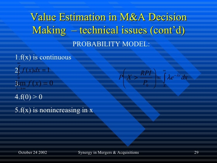 synergistic decision making Strategic analysis of synergistic effect on m&a of  march 2010 from a strategic angle by analyzing the strategic decision-making, the competitive environment, the me.