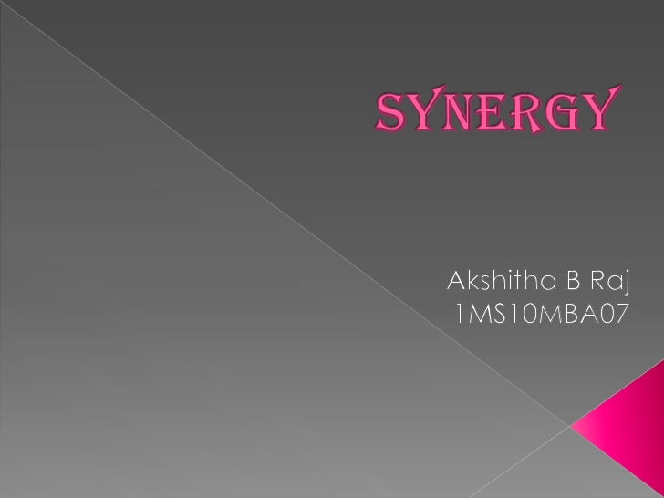 Synergy is a stated motive in many mergers and acquisitions.If synergy is perceived to exist, the market value of the    c...