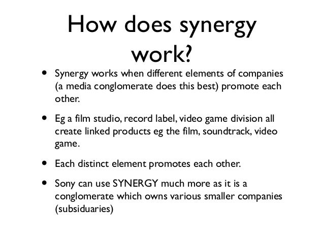 slogan in synergy Fourth edition: march 2013 third edition:  these are not just words or a slogan  command relationships to promote synergy.