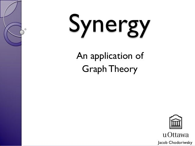 Synergy An application of GraphTheory Jacob Chodoriwsky