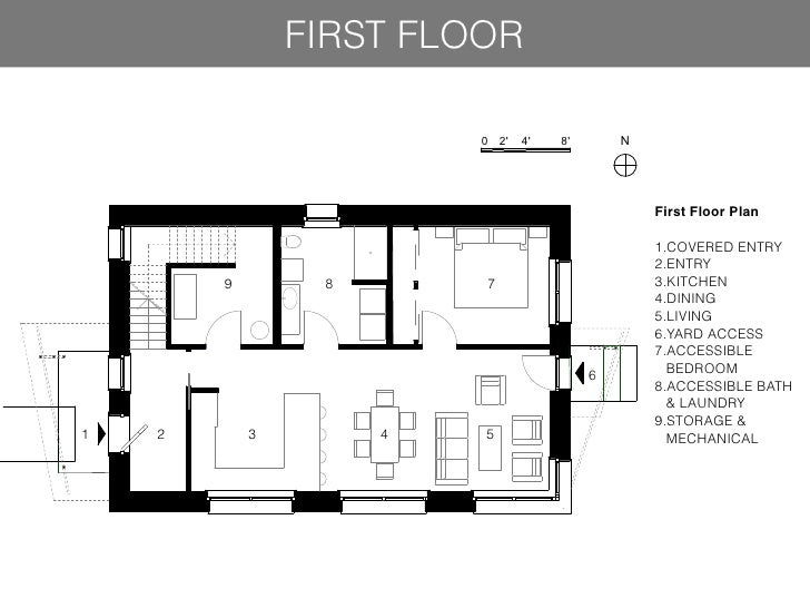 Case study house 8 floor plan for Case study houses floor plans