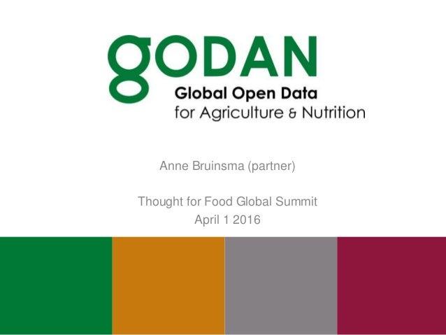 Anne Bruinsma (partner) Thought for Food Global Summit April 1 2016