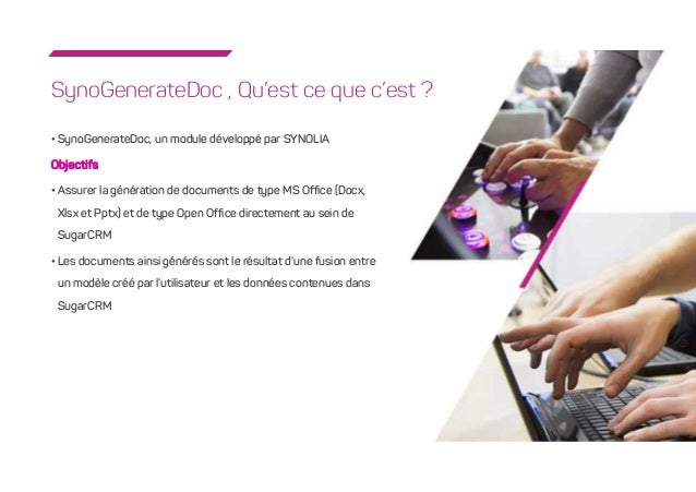 synogeneratedoc  module de g u00e9n u00e9ration de documents avec