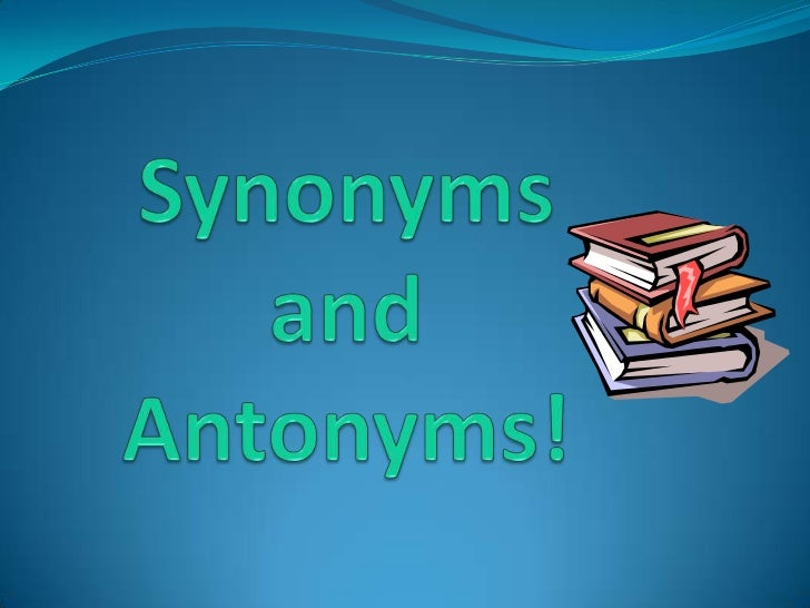 synonyms and antonyms questions and answers pdf