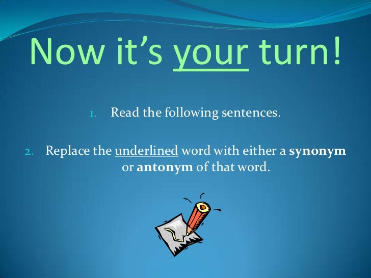 Synonym and Antonym PowerPoint