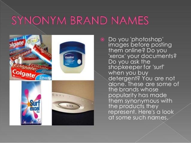 Synonym Of Brand S Names
