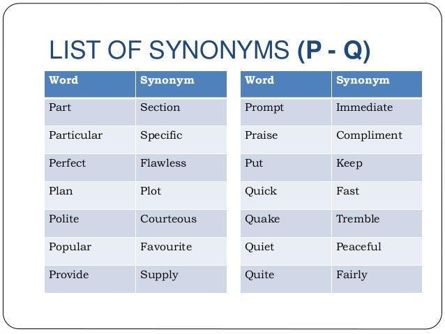 synonym special