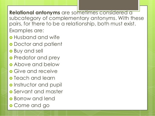 Worksheets Example Of Antonyms synonyms and antonyms 14 relational antonyms
