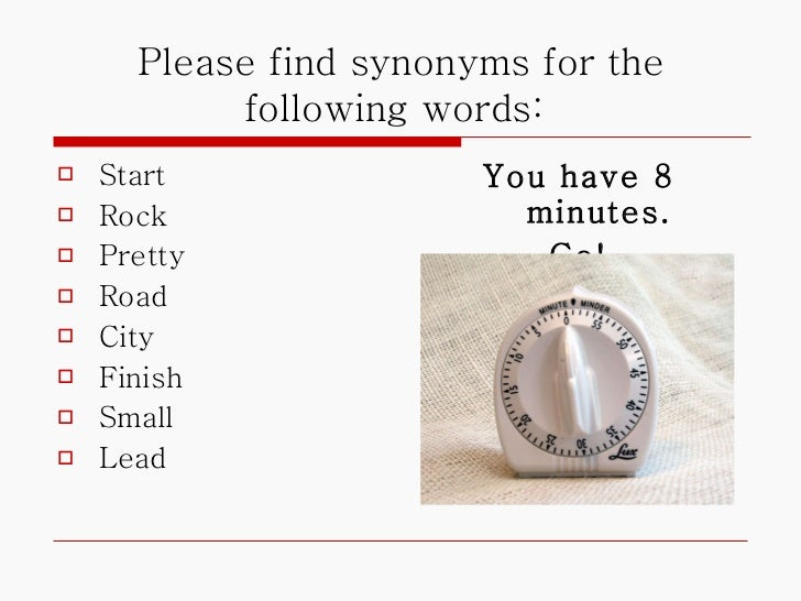 Synonyms Power Point