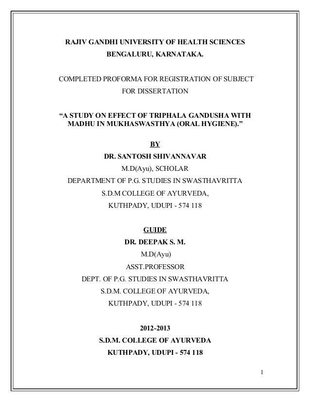 rajiv gandhi university thesis topics in orthodontics