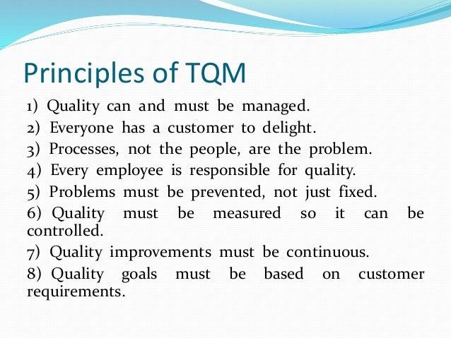 total quality management principles
