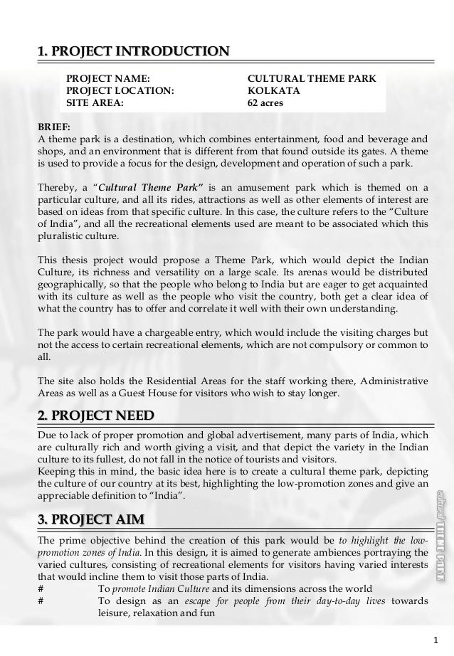 thesis+nature theme parks This questionnaire is being sent to you as part of a project to create a nature and  forest-based adventure park the park will offer various educational activities to.