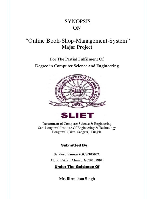 synopsis on online library management Download library management system project in php in today's world of technology, education and anything related to it has been shifted to.