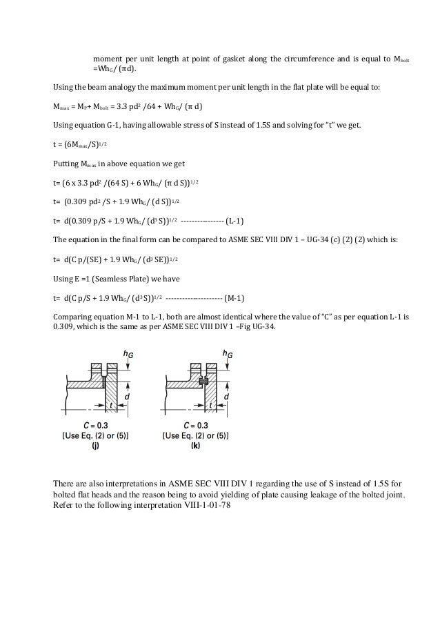 Synopsis of Shell & Circular Flat Heads equations