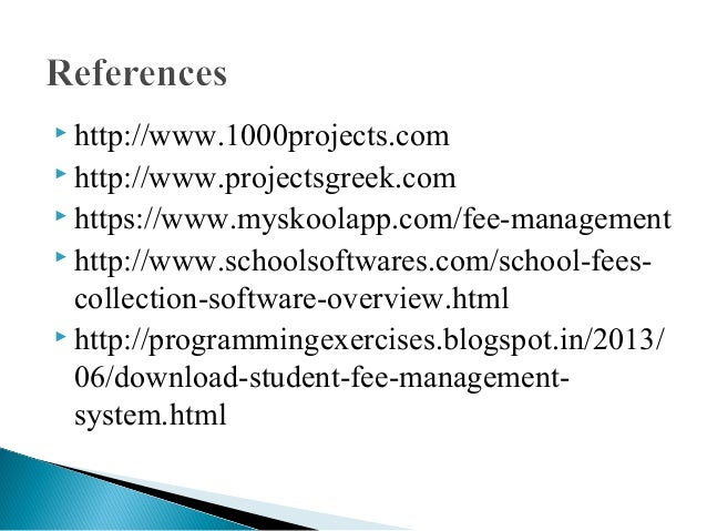 Synopsis Of Fee Management System