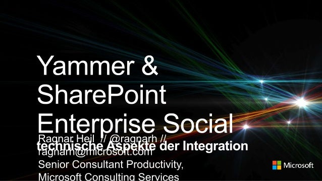 Microsoft Consulting Services Tipps & Tricks SharePoint Yammer Basis Integration Road Map