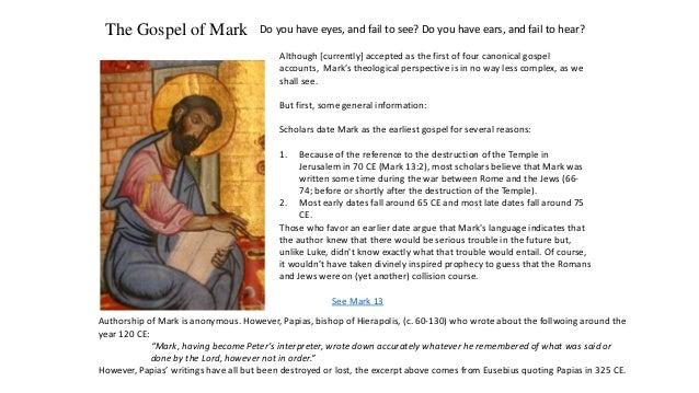 Which written in order gospels When were