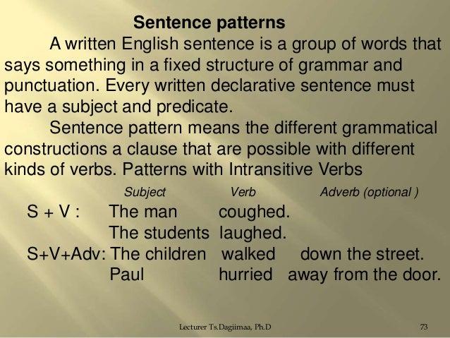 write a declarative sentence containing a verb phrase