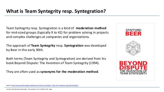 Syntegrity, Syntegration, Workshop, Process, Supplier, Critics Slide 3