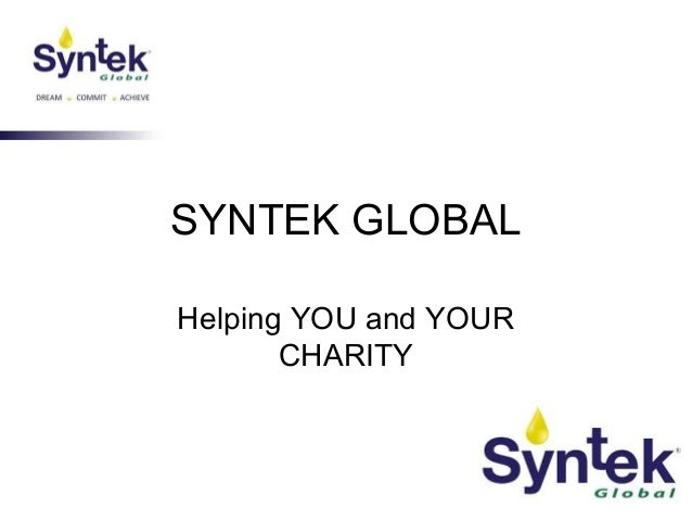 SYNTEK GLOBAL Helping YOU and YOUR CHARITY