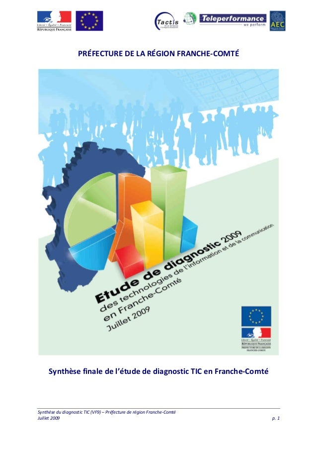 PRÉFECTURE DE LA RÉGION FRANCHE-COMTÉ  Synthèse finale de l'étude de diagnostic TIC en Franche-Comté  Synthèse du diagnost...