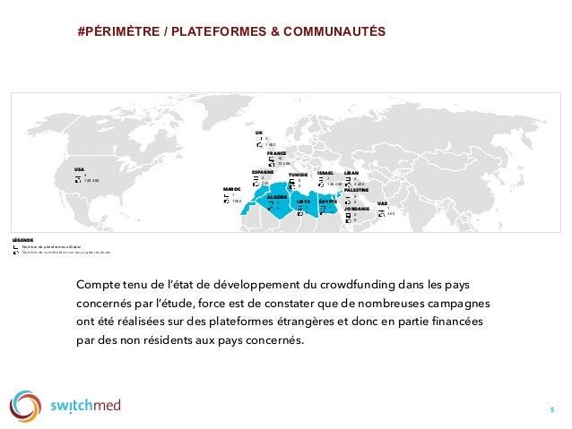 #PÉRIMÈTRE / PLATEFORMES & COMMUNAUTÉS 5 USA Compte tenu de l'état de développement du crowdfunding dans les pays concerné...