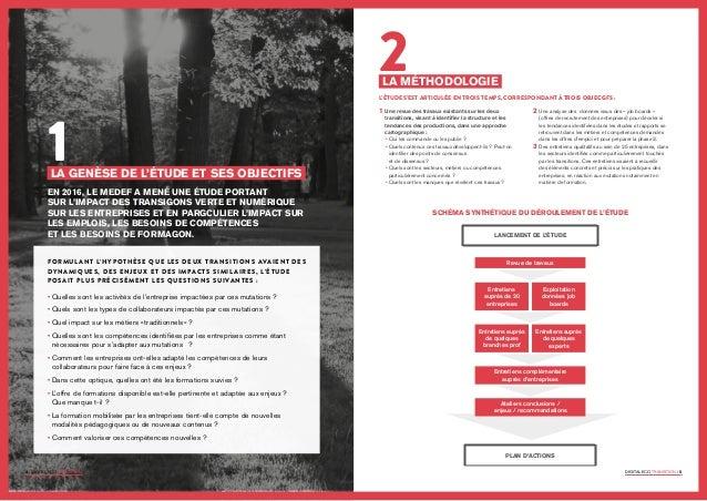 Etude sur l'impact des transitions verte et numérique sur l'emploi, les besoins de compétences et les besoins de formation Slide 3