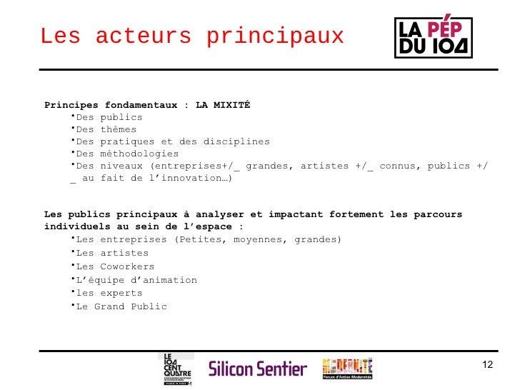 Les acteurs principaux <ul><li>Principes fondamentaux : LA MIXITÉ   </li></ul><ul><ul><li>Des publics </li></ul></ul><ul><...