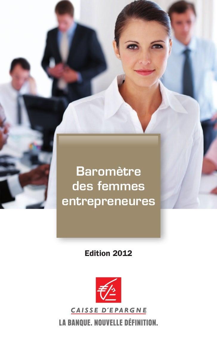 Baromètre des femmesentrepreneures   Edition 2012