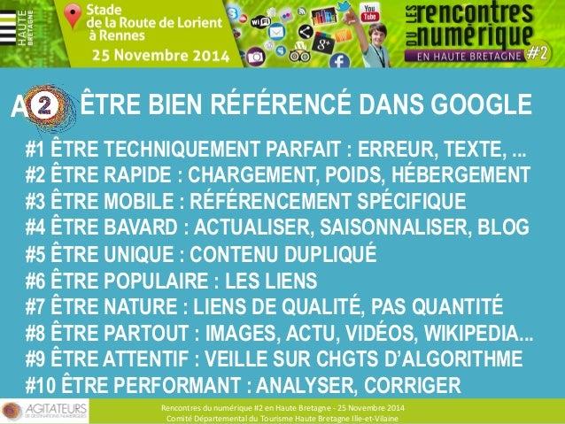 CONTENUS A ET RÉSEAUX SOCIAUX  Rencontres  du  numérique  #2  en  Haute  Bretagne  -‐  25  Novembre  2013  Comité  Départ...