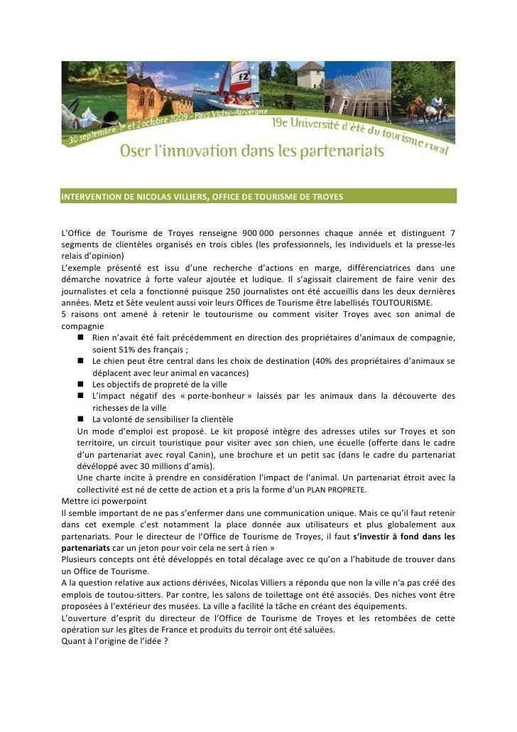 L 39 office du toutourisme de troyes nicolas villiers ue2009 - Office du tourisme de troyes ...